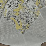 Kit: 1 Cobre-leito Solteiro Bouti de Microfibra Ultrasonic Estampada + 1 Porta-travesseiro - Jordana Amarelo - Dui Design