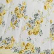 Jogo de Cama Casal 150 fios - Josy Amarelo - Dui Design