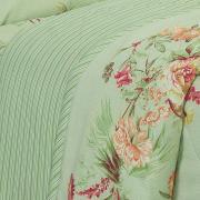 Kit: 1 Cobre-leito Casal + 2 Porta-travesseiros 150 fios - Juliana Verde - Dui Design