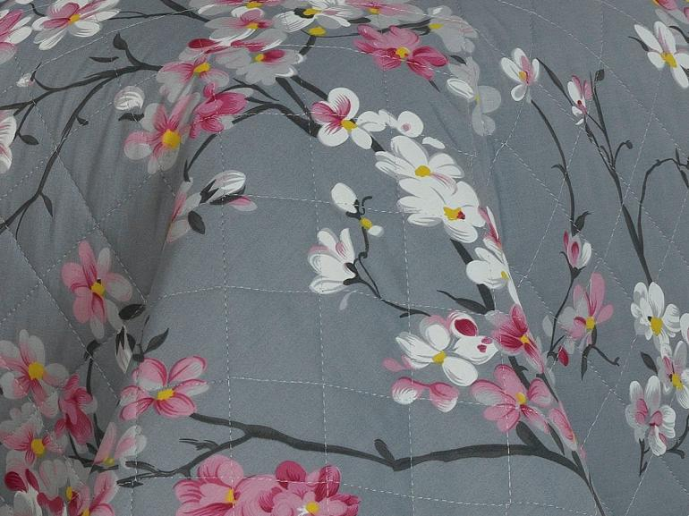 Kit: 1 Cobre-leito Queen + 2 Porta-travesseiros 180 fios - Kanji Cinza - Dui Design