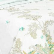 Kit: 1 Cobre-leito Solteiro + 1 Porta-travesseiro Percal 200 fios - Kiara Azul - Dui Design