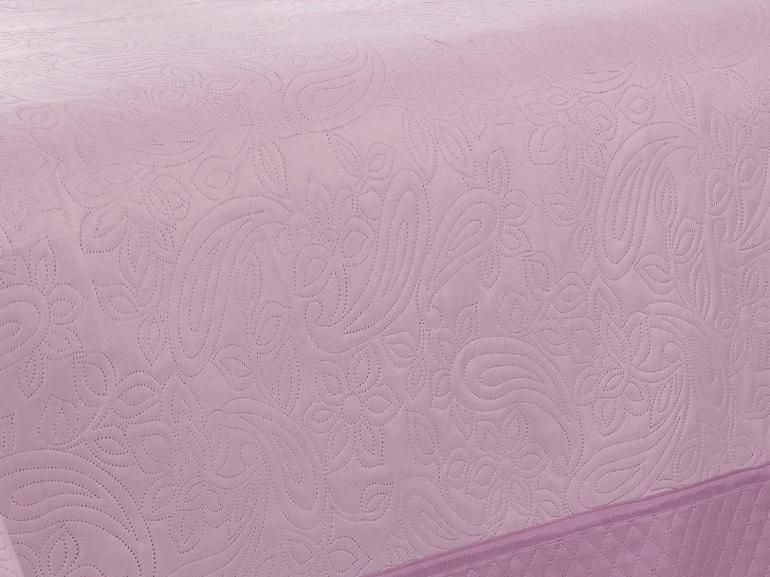 Kit: 1 Cobre-leito Casal Bouti de Microfibra Ultrasonic + 2 Porta-travesseiros - Kima Lilás - Dui Design