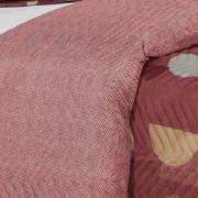 Kit: 1 Cobre-leito Casal Bouti de Microfibra Ultrasonic Estampada + 2 Porta-travesseiros - Kirk Terracota - Dui Design