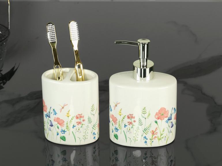 Kit para Bancada de Banheiro em Cerâmica 2 Peças - Camila Rosa - Dui Design