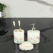 Kit para Bancada de Banheiro em Cerâmica 3 Peças - Camila Rosa - Dui Design