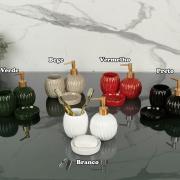 Kit para Bancada de Banheiro em Cerâmica 3 Peças - Paris - Dui Design