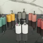 Kit para Bancada de Banheiro em Cerâmica 2 Peças - Waffle - Dui Design