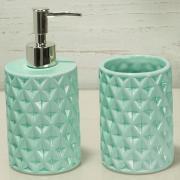 Kit para Bancada de Banheiro em Cerâmica 2 Peças - Diamond - Dui Design