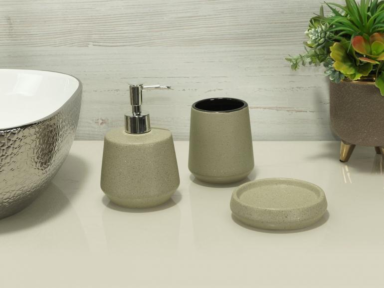 Kit para Bancada de Banheiro em Cerâmica 3 Peças - Bristol - Dui Design