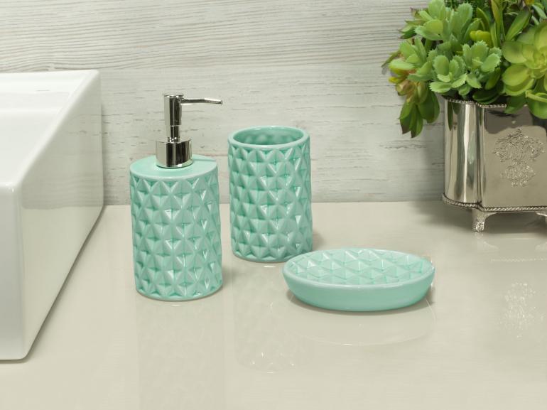 Kit para Bancada de Banheiro em Cerâmica 3 Peças - Diamond - Dui Design