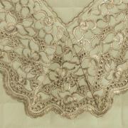 Enxoval 10 peças com Cobre-leito Casal Percal 200 fios com Bordado Inglês - Lady Marfim e Camurça - Dui Design