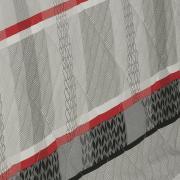 Enxoval King com Cobre-leito 7 peças Percal 200 fios - Laguna Cinza - Dui Design