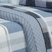 Kit: 1 Cobre-leito Solteiro + 1 Porta-travesseiro Percal 200 fios - Laguna Indigo - Dui Design