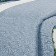 Kit: 1 Cobre-leito Casal Bouti de Microfibra Ultrasonic Estampada + 2 Porta-travesseiros - Laila Azul - Dui Design