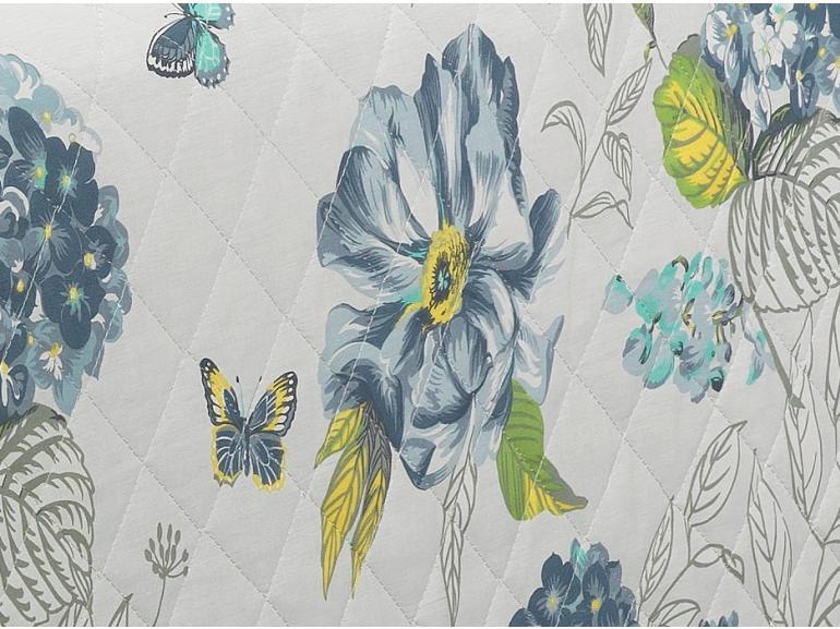 Enxoval Solteiro com Cobre-leito 5 peças Percal 180 fios - Laline Azul - Dui Design