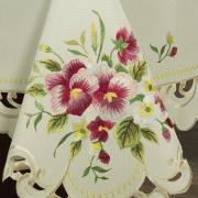 Toalha de Mesa com Bordado Richelieu Retangular 8 Lugares 160x270cm - Laline Natural - Dui Design