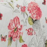 Enxoval Solteiro com Cobre-leito 5 peças Percal 180 fios - Laline Rosa - Dui Design