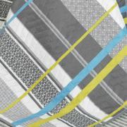 Kit: 1 Cobre-leito King Bouti de Microfibra Ultrasonic Estampada + 2 Porta-travesseiros - Laurent Cinza - Dui Design
