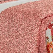 Kit: 1 Cobre-leito Casal Bouti de Microfibra Ultrasonic Estampada + 2 Porta-travesseiros - Laureta Vermelho - Dui Design
