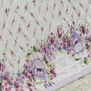 Enxoval Casal com Cobre-leito 7 peças 150 fios - Lavinia Lilás - Dui Design
