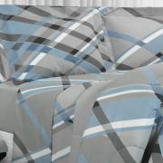 Jogo de Cama Queen Percal 200 fios - Leslie Cinza - Dui Design