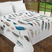 Cobertor Avulso Solteiro Flanelado com Estampa Digital - Leveza - Dui Design