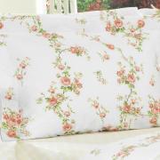 Kit: 1 Cobre-leito Solteiro + 1 Porta-travesseiro Percal 200 fios - Liara Marfim - Dui Design
