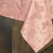 Toalha de Mesa Fácil de Limpar Retangular 6 Lugares 160x220cm - Liberty Rosa Velho - Dui Design