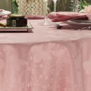 Toalha de Mesa Fácil de Limpar Redonda 220cm - Liberty Rosa Velho - Dui Design
