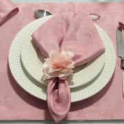 Kit: 4 Guardanapos 50x50cm - Liberty Rosa Velho - Dui Design