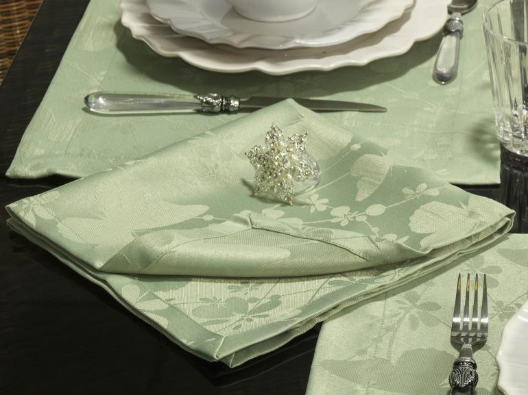 Kit: 4 Guardanapos 50x50cm - Liberty Verde Claro - Dui Design