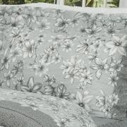 Jogo de Cama Casal 150 fios - Lidia Cinza - Dui Design