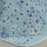 Kit: 1 Cobre-leito King + 2 Porta-travesseiros 150 fios - Lidia Porcelana - Dui Design