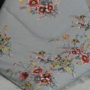 Jogo de Cama Queen Percal 200 fios - Lilian Cinza - Dui Design