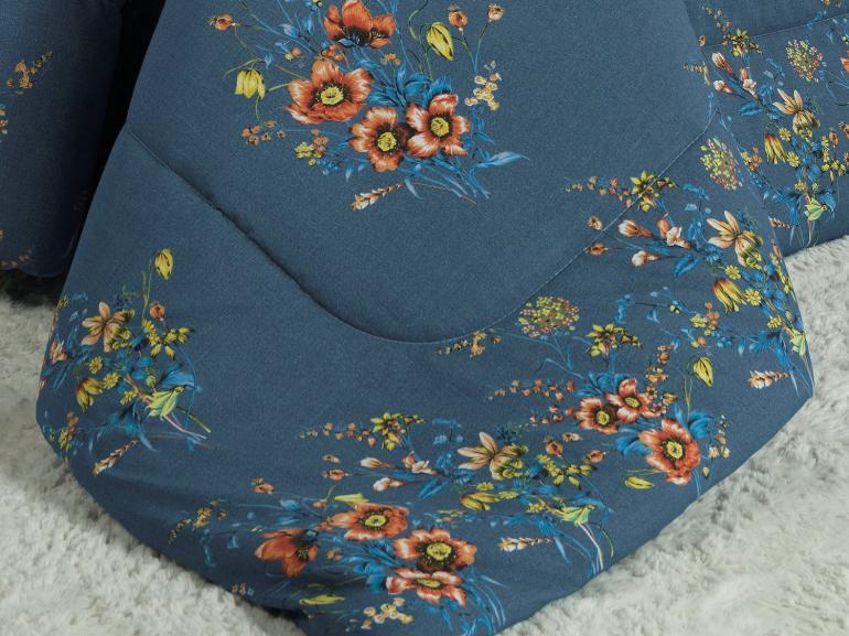 Jogo de Cama Queen Percal 200 fios - Lilian Indigo - Dui Design