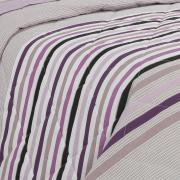 Kit: 1 Cobre-leito Solteiro + 1 Porta-travesseiro Percal 180 fios - Livorno Noz Moscada - Dui Design