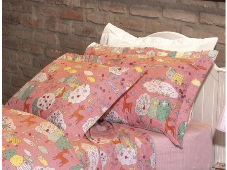 Kit: 1 Cobre-leito Solteiro + 1 Porta-travesseiro 160 fios - Liz - Kacyumara