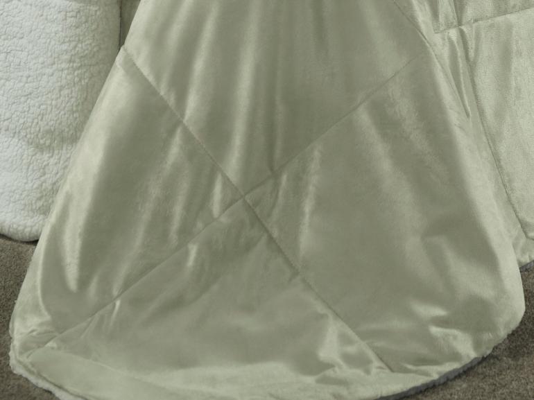 Edredom Casal Pele de Carneiro e Plush Micromink - Sherpa Londres Bege - Dui Design