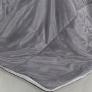 Edredom Solteiro Pele de Carneiro e Plush Micromink- Sherpa Londres Cinza Alloy - Dui Design