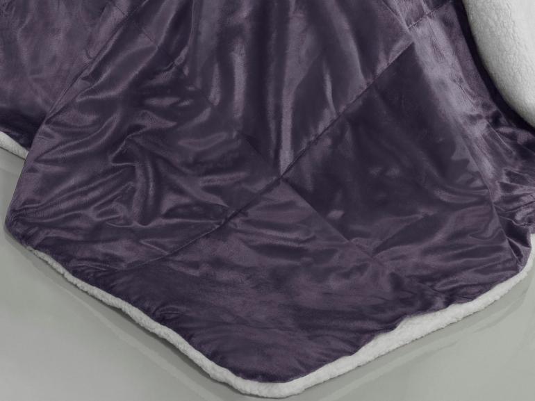 Edredom King Pele de Carneiro e Plush Micromink - Sherpa Londres Grape - Dui Design