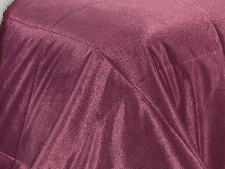 Edredom Casal Pele de Carneiro e Plush Micromink - Sherpa Londres Malaga - Dui Design