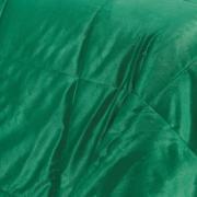 Edredom Solteiro Pele de Carneiro e Plush Micromink- Sherpa Londres Verde Ultramarine - Dui Design