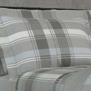 Jogo de Cama Queen Percal 200 fios - Lorde Cinza - Dui Design