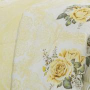 Edredom Solteiro 150 fios - Louise Amarelo - Dui Design