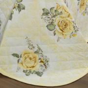 Kit: 1 Cobre-leito Casal + 2 Porta-travesseiros 150 fios - Louise Amarelo - Dui Design