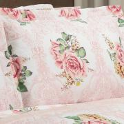 Kit: 1 Cobre-leito Casal + 2 Porta-travesseiros 150 fios - Louise Rosa - Dui Design