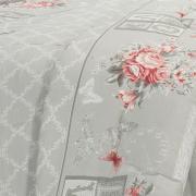 Edredom King 150 fios - Lovely Cinza - Dui Design