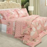Edredom King 150 fios - Lovely Rosa - Dui Design