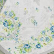 Enxoval Casal com Cobre-leito 7 peças Percal 180 fios - Lucineia Azul - Dui Design