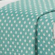 Kit: 1 Cobre-leito Solteiro Kids Bouti de Microfibra PatchWork Ultrasonic + 1 Porta-travesseiro - Lucy Turquesa - Dui Design